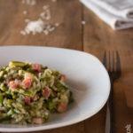 Risotto con asparagi di Santena e pancetta