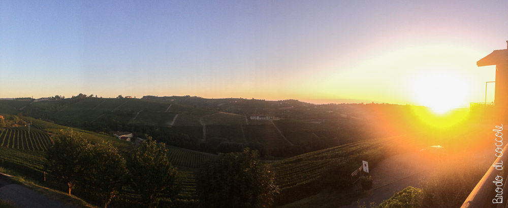 Tramonto nelle Langhe