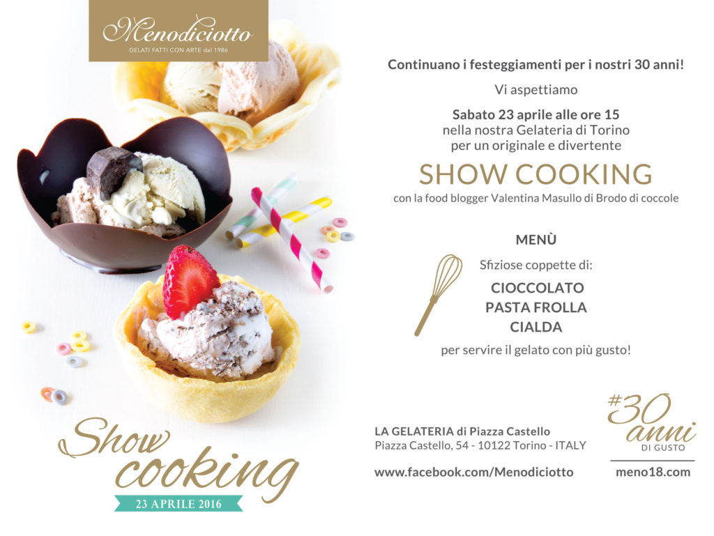 Cartolina Showcooking Menodiciotto