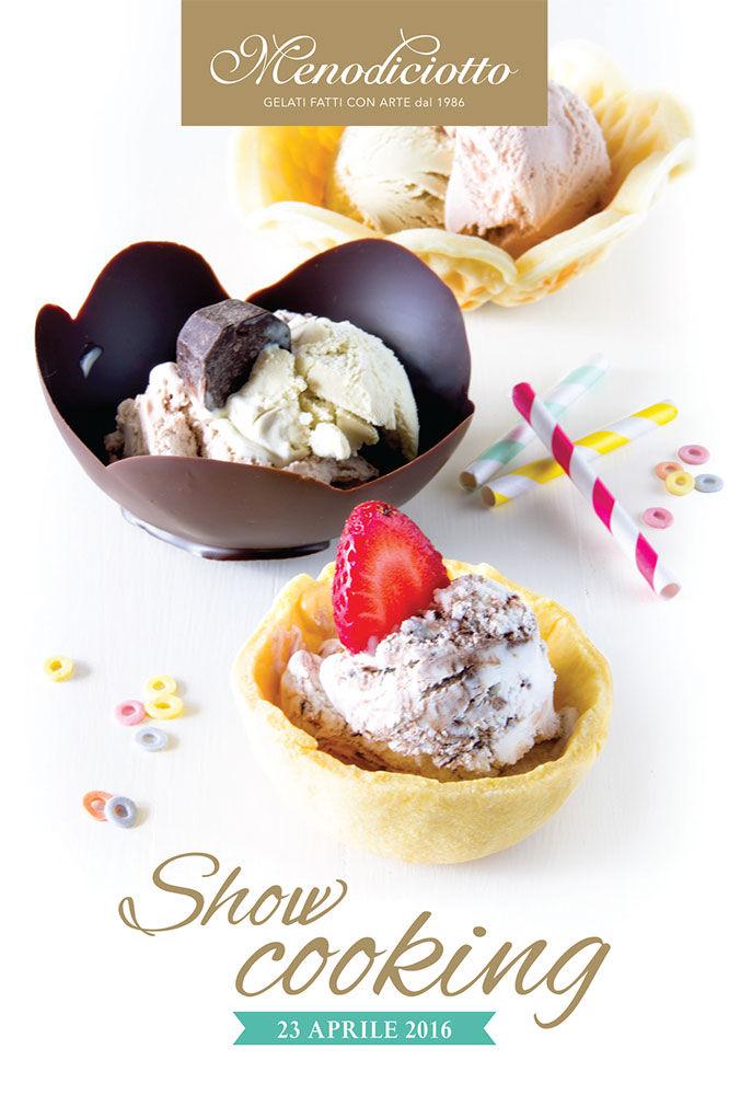 Showcooking in gelateria per i #30annidigusto di Menodiciotto