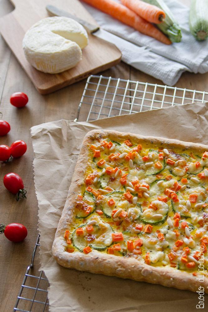 Ricetta per Ferragosto - Torta salata con zucchine, carote e caprino