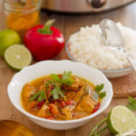 Curry di pesce cotto a bassa temperatura con la Crock-pot