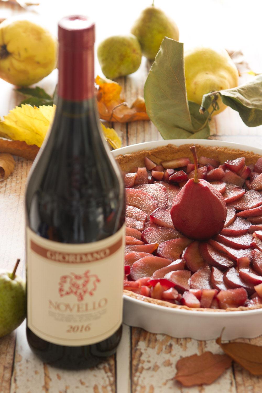 Crostata di pere al vino Novello
