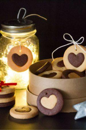 Biscotti chiudipacco con vaniglia e cioccolato