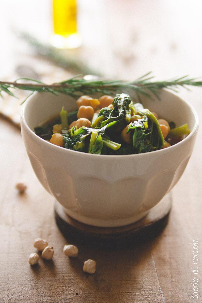 Minestra di ceci e spinaci