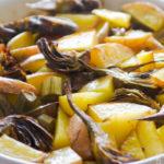 Carciofi e patate al forno