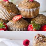 Muffin di grano saraceno ai frutti rossi