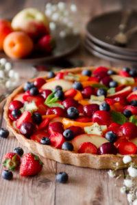 Crostata di frutta al farro