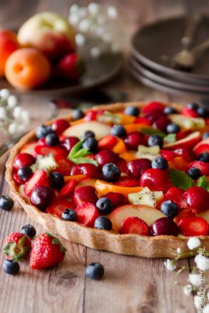 Crostata di frutta (classica e al farro)