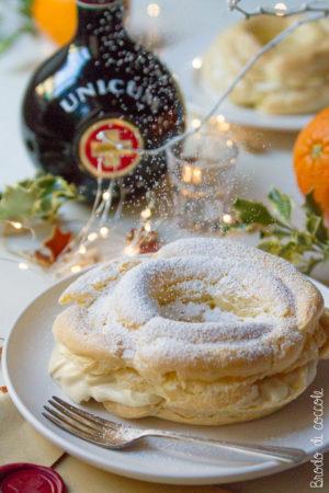 Paris brest con crema al mascarpone e arancia aromatizzata all'Unicum