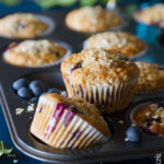 Muffin integrali con mirtilli e avena