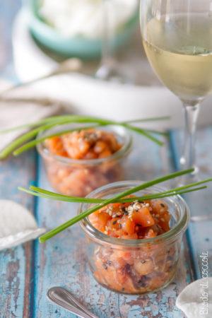 Tartare di salmone alla salsa di soia