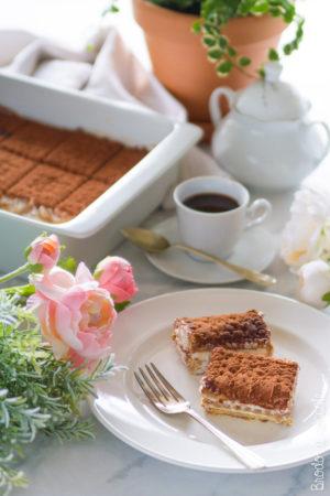Torta mattonella al caffè e ricotta