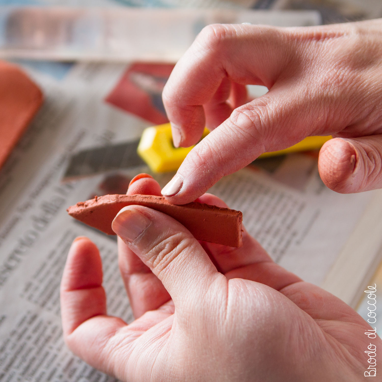 Etichette segna piante in pasta modellabile