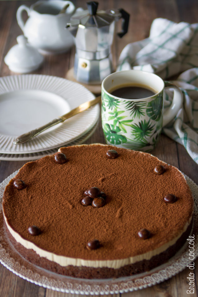 Crostata fredda al caffè senza cottura