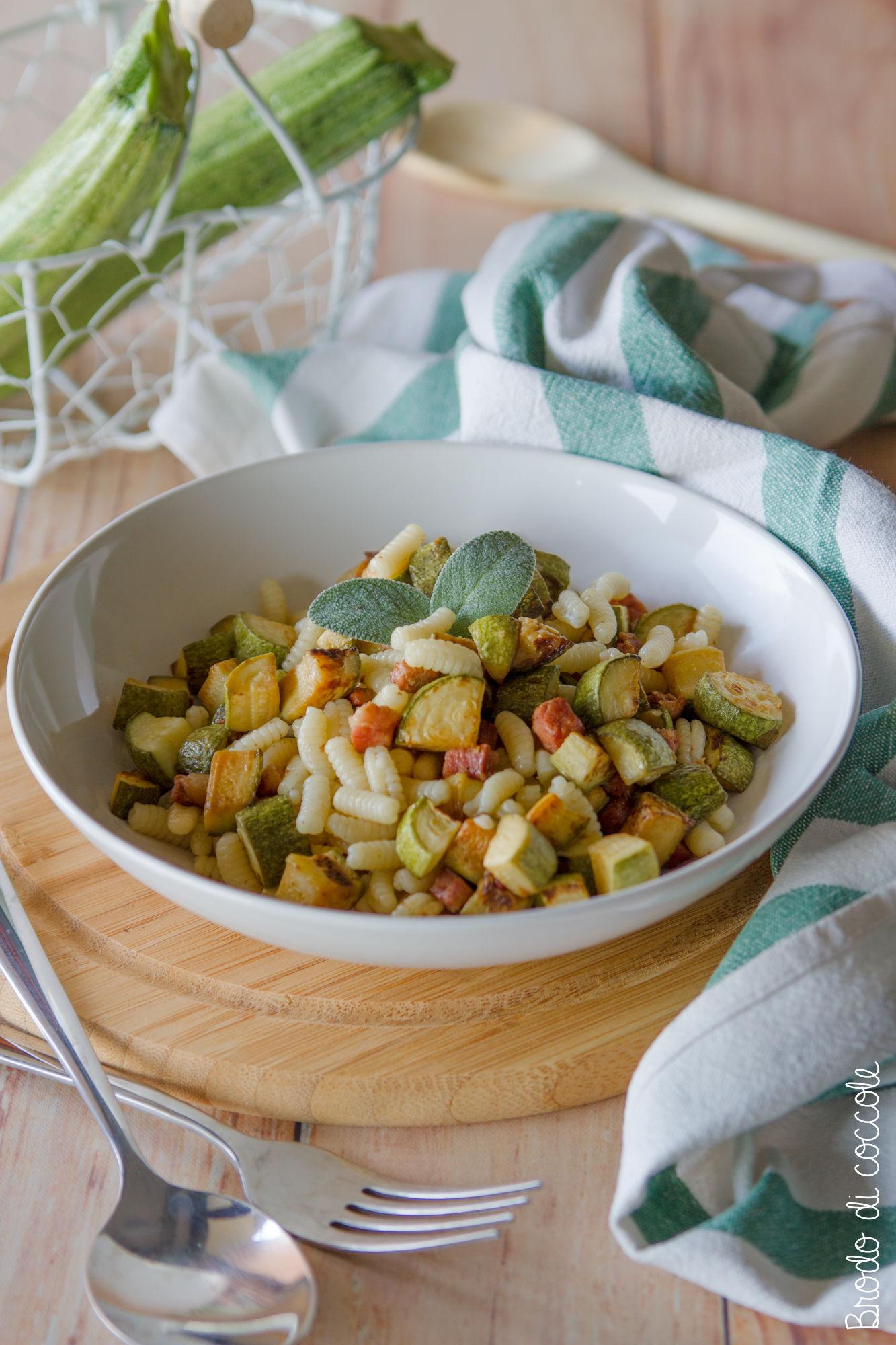 Malloreddus con zucchine e pancetta