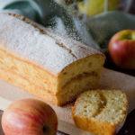 Plumcake versato con confettura di mele