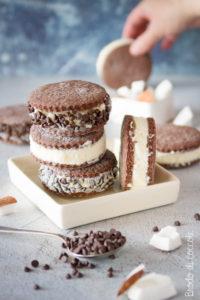 Biscotti gelato al cocco e cioccolato