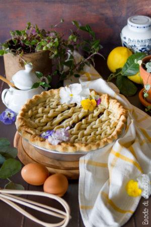 Crostata amalfitana con crema e amarene