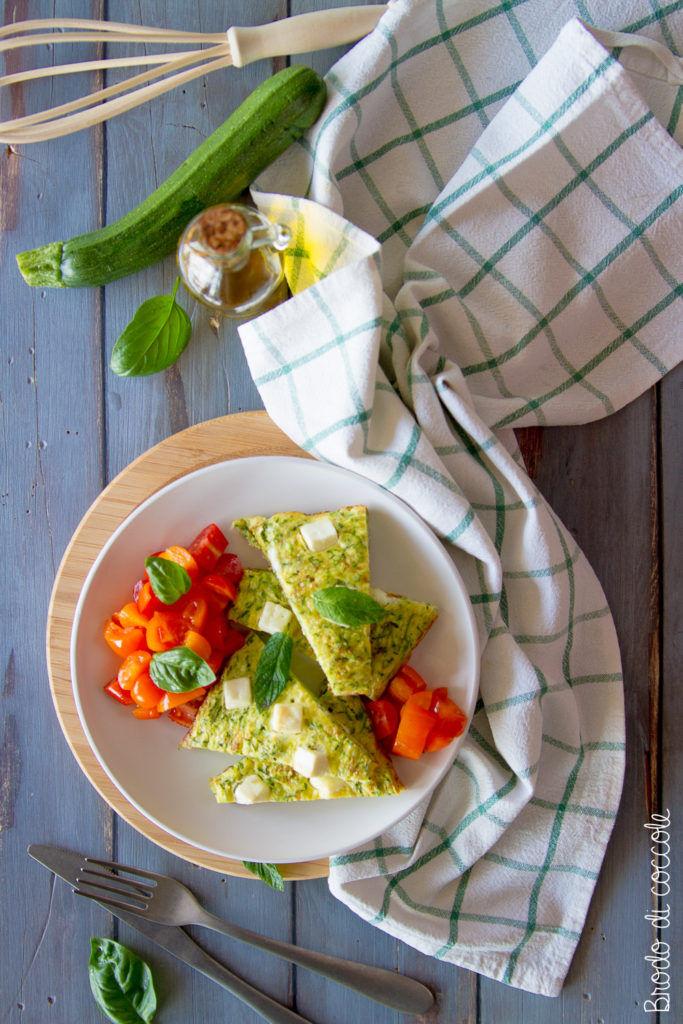 Frittata di zucchine e feta