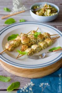 Spiedini di zucchine alle erbe aromatiche