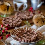 Crostatine al cacao con crema di marroni