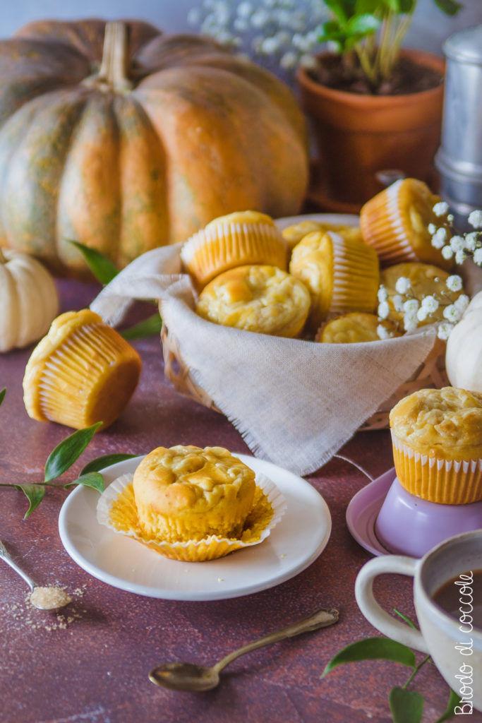 Muffin cheesecake alla zucca