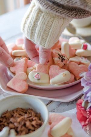 Biscotti marmorizzati per San Valentino